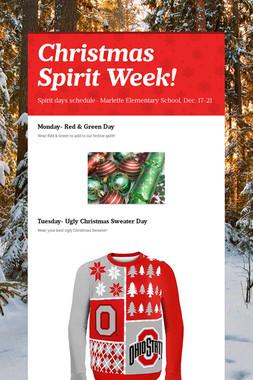 Christmas Spirit Week!