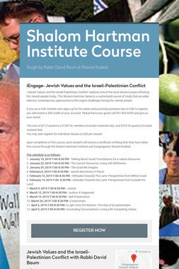 Shalom Hartman Institute Course