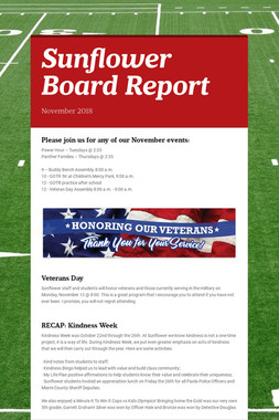 Sunflower Board Report