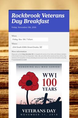 Rockbrook Veterans Day Breakfast