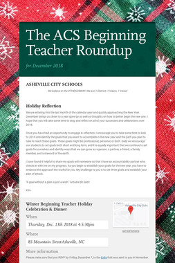 The ACS Beginning Teacher Roundup