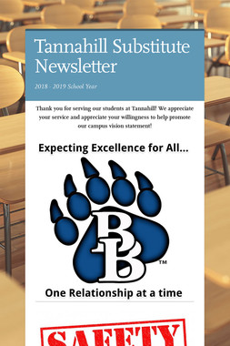 Tannahill Substitute Newsletter