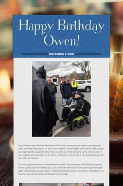 Happy Birthday Owen!