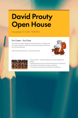 David Prouty Open House
