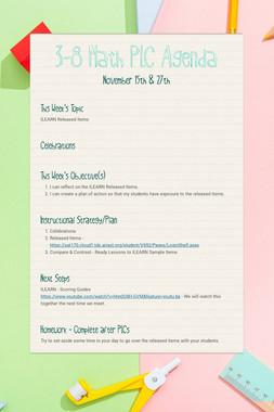 3-8 Math PLC Agenda