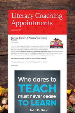 Literacy Coaching Appointments