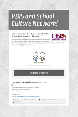 PBIS and School Culture Network!