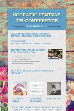 Socratic Seminar Un-conference