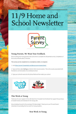 11/9 Home and School Newsletter