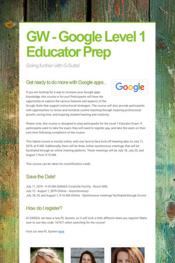 GW - Google Level 1 Educator Prep