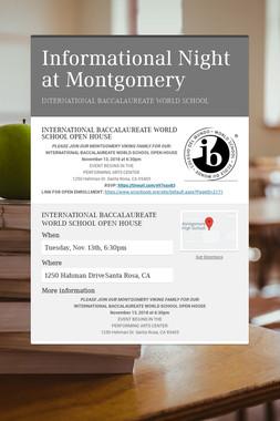 Informational Night at Montgomery