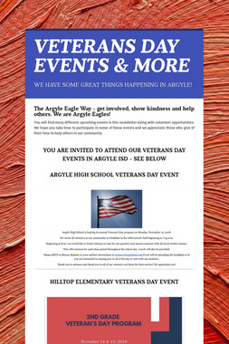 VETERANS DAY EVENTS & MORE