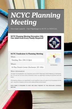 NCYC Planning Meeting