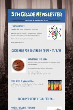 5th Grade Newsletter