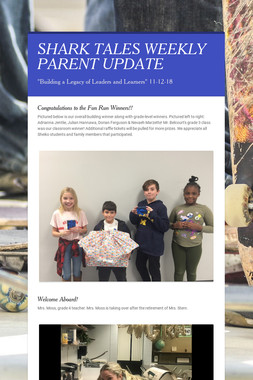 SHARK TALES WEEKLY PARENT UPDATE