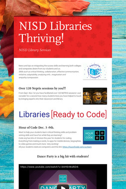 NISD Libraries Thriving!