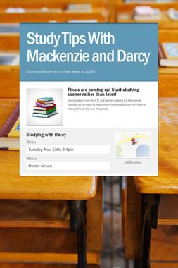 Study Tips With Mackenzie and Darcy