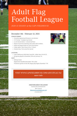 Adult Flag Football League