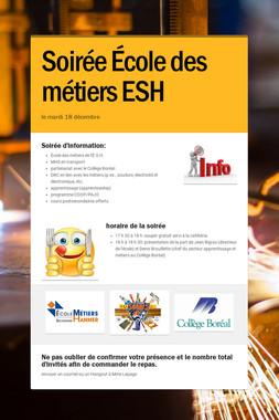 Soirée École des métiers ESH