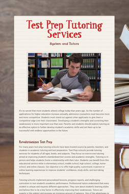 Test Prep Tutoring Services