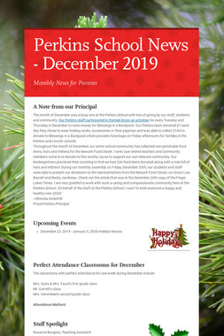 Perkins School News - December 2019