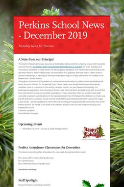 Perkins School News - December 2019