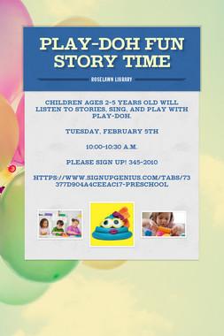 Play-doh Fun Story Time