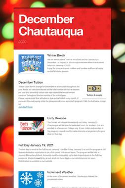 December Chautauqua