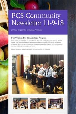 PCS Community Newsletter 11-9-18