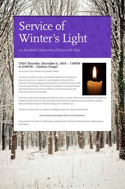Service of Winter's Light