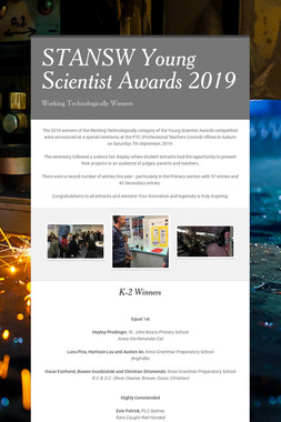 STANSW Young Scientist Awards  2019