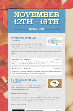November 12th - 16th