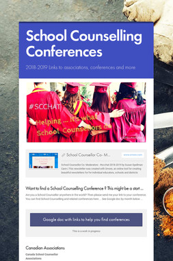 School Counselling Conferences