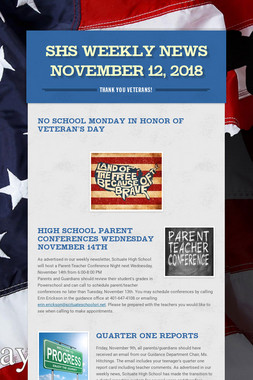SHS Weekly News November 12, 2018