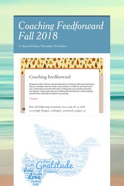 Coaching Feedforward Fall 2018