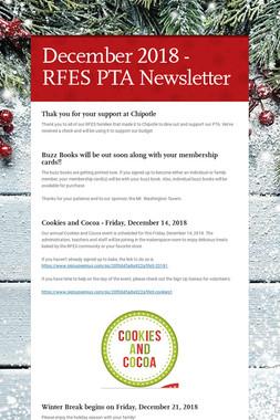 December 2018 - RFES PTA Newsletter