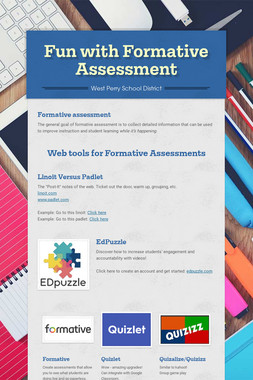 Fun with Formative Assessment