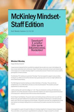 McKinley Mindset- Staff Edition
