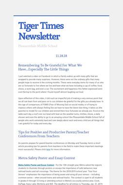Tiger Times Newsletter