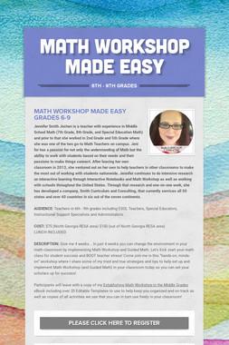 Math Workshop Made Easy