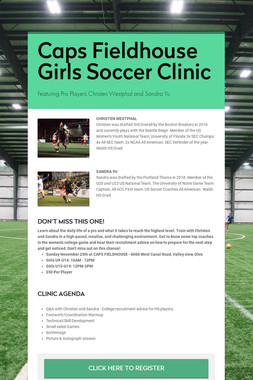 Caps Fieldhouse Girls Soccer Clinic