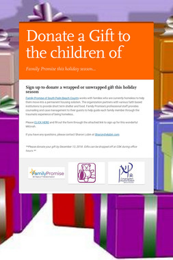 Donate a Gift to the children of