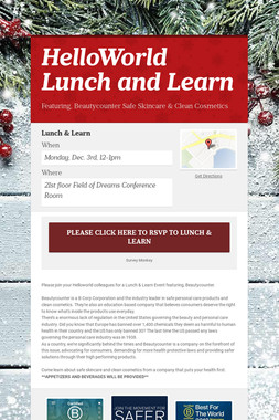 HelloWorld Lunch and Learn