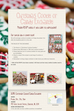 Christmas Cookie or Candy Exchange