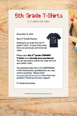 5th Grade T-Shirts