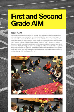 First and Second Grade AIM