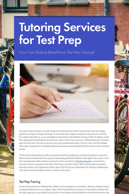 Tutoring Services by Span Test Prep