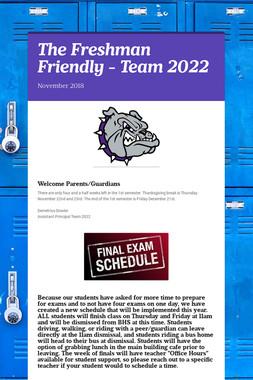The Freshman Friendly - Team 2022