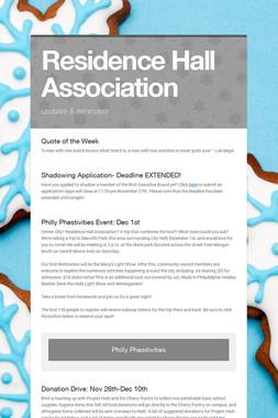 Residence Hall Association