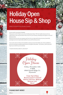 Holiday Open House Sip & Shop